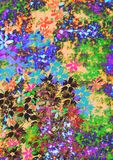 Colourful flowers. Colourful background with little flowers Royalty Free Illustration