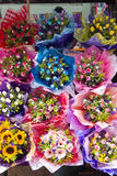 Colourful Flowers. In Large Bunches ready for sale royalty free stock photography