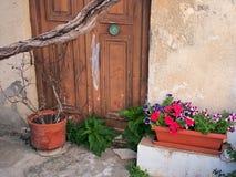 Colourful Flowers, Greek Island Royalty Free Stock Photo