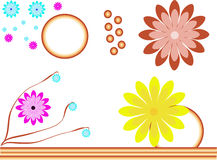 Colourful flowers illustration Royalty Free Stock Images