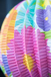 Colourful Flowers Paper Lantern Royalty Free Stock Photography