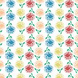 Colourful flowers repeatable pattern Stock Photo