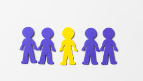 Colourful foam people on white background Royalty Free Stock Photography