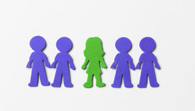 Colourful foam people on white background Royalty Free Stock Images