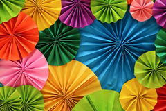 Colourful fold paper. Many colourful fold papers made by man Stock Photo