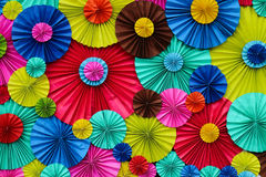 Colourful fold paper. Many colourful fold papers made by man Royalty Free Stock Image