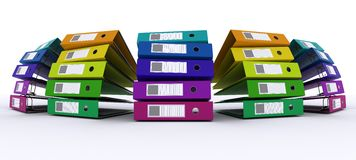Colourful folders Stock Photo