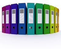 Colourful folders Royalty Free Stock Photography