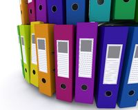 Colourful folders Royalty Free Stock Image