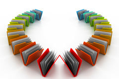 Colourful folders Royalty Free Stock Images