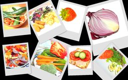 Colourful food ideas Royalty Free Stock Photography