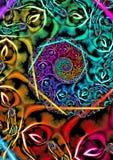 Colourful fractal spirala ilustracji