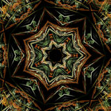 Colourful Fractal Star Stock Photography
