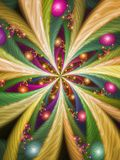 Colourful Fractal Star. Or Firework Pattern Royalty Free Stock Photos