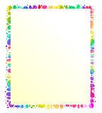 Colourful frame/ message holder. For special messages, thank you notes, photographs or a scrapbook page to store memories stock illustration