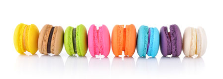 Colourful french macaroons Stock Photography