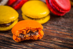 Colourful french macaroons Royalty Free Stock Images