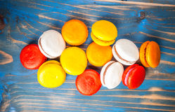 Colourful french macaroons Stock Image