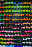 Colourful Fridge Magnet in Tulip shape and design. On display for sale in the Flower Market Amsterdam called Bloemenmarkt Royalty Free Stock Photography