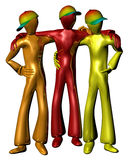 Colourful friends Stock Photography