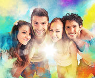 Colourful friends royalty free stock images