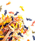 Colourful frilly Italian pasta Stock Photography