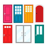 Colourful front doors to houses and buildings Stock Photography