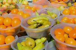 Colourful Fruit Bowls Stock Photos