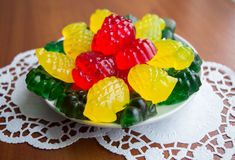 Colourful fruit jelly candies Royalty Free Stock Photo