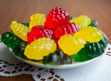 Colourful fruit jelly candies Royalty Free Stock Images