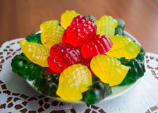 Colourful fruit jelly candies Stock Photography