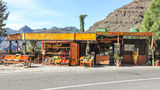 Colourful fruit market. Colourful Canarian fruit market by the roadside. Gran Canaria, Spain Stock Images
