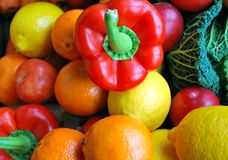 Colourful fruit and veg. Colourful variety of fruit and veg Royalty Free Stock Images