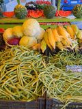 Colourful Fruit and Vegetable Display, Greece. A colourful display of fresh fruit and vegetables outside a Greek shop.Actual location is Argostoli, Kefalonia royalty free stock photo