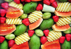 Colourful fruits background Royalty Free Stock Image