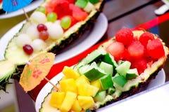 Colourful fruits salad royalty free stock photo