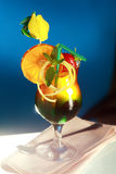 Colourful fruity cocktail Royalty Free Stock Photos