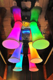 Colourful Funnels from Ceiling Royalty Free Stock Photography