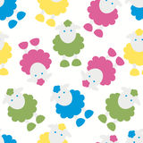 Colourful funny lambs Stock Images