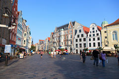 Colourful Gabled Houses Of Rostock Royalty Free Stock Photography