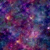 Colourful Galaxy Cosmos Print with constellation overlay. Seamless Pattern in Repeat with unicorn theme Royalty Free Stock Photos