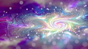 Colourful galaxy oil with depth blur Fractal Art. Fractorium rendered fractal art used for abstraction colour used purple, white, cyan, magenta, orange, red Royalty Free Illustration
