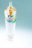Colourful Galileo Thermometer Abstract on Blue royalty free stock image
