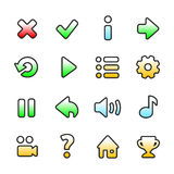 Colourful game icons Stock Photography