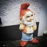 Colourful garden gnome royalty free stock images