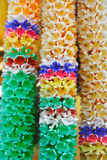 Colourful Garlands. Colourful Thai Garlands at the gate of Temple Royalty Free Stock Photos