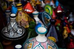 Colourful garnki w Marrakech zdjęcia stock