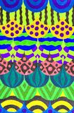 Colourful gel pen drawing Royalty Free Stock Photo