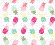Colourful geometric abstract pineapples repeat pattern. Colourful geometric abstract pineapples repeat seamless pattern Royalty Free Stock Images