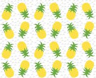 Colourful geometric abstract pineapples repeat pattern. Colourful geometric abstract pineapples repeat seamless pattern Stock Photos